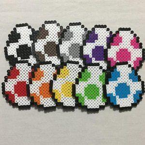 Yoshi Egg Fridge Magnets - Game Room Nerdy Decor